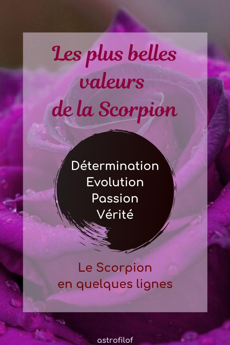 Les valeurs du Scorpion