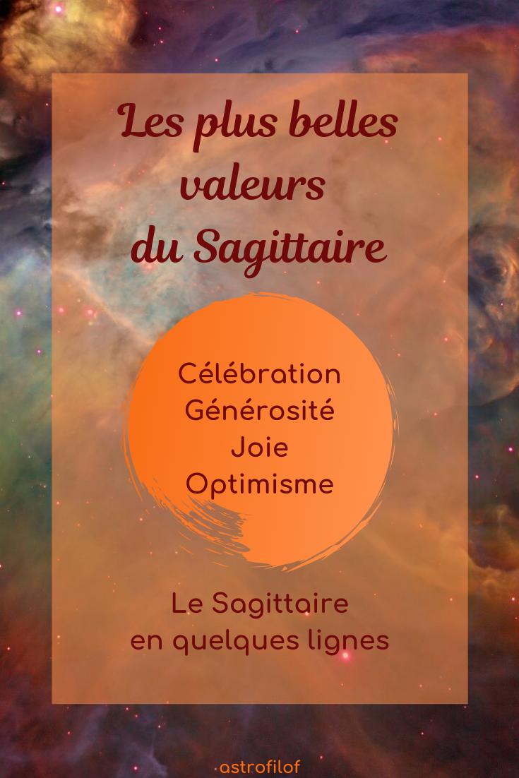 Les valeurs du Sagittaire