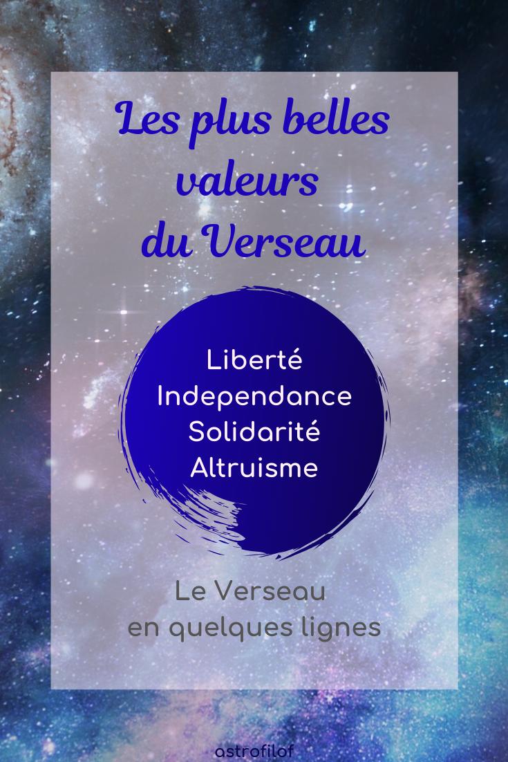 les valeurs du Verseau