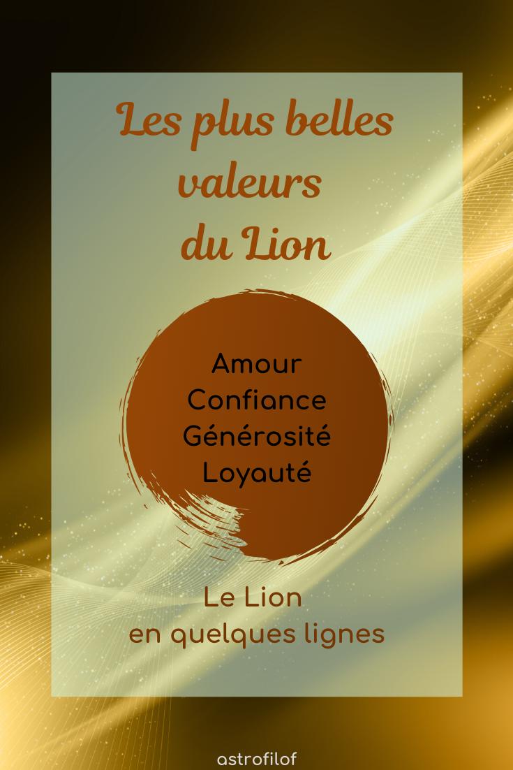 Les valeurs du Lion