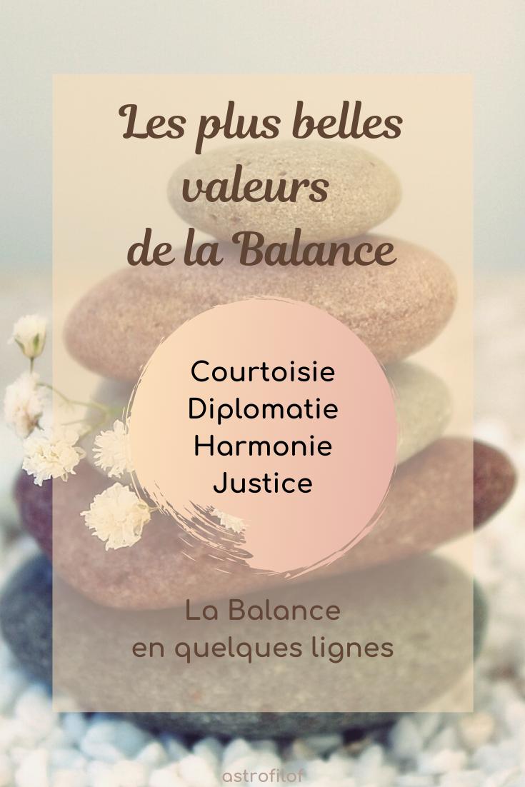 Les valeurs de la Balance