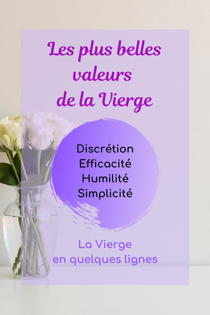 Les valeurs de la Vierge