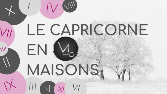 Le Capricorne en maison