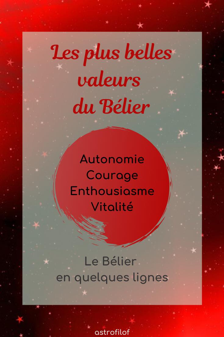 les valeurs du Bélier