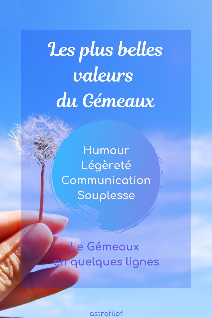 Les valeurs du Gémeaux