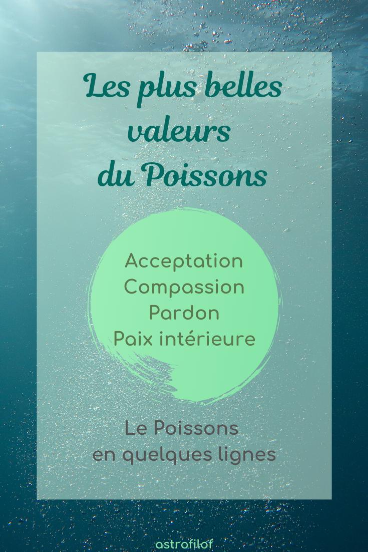 les valeurs du Poissons