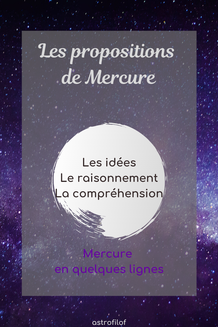 Les propositions de Mercure