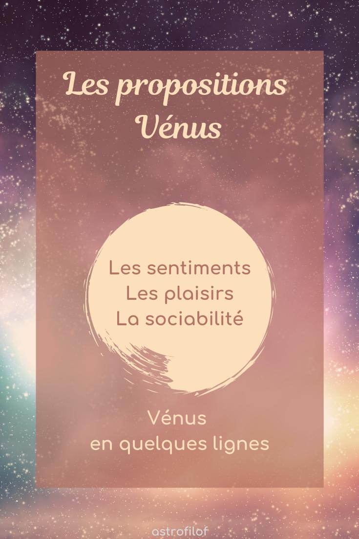 Les propositions de Vénus