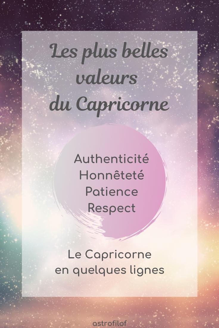 les valeurs du Capricorne